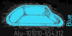 Blue lumen Alu-101010-654312